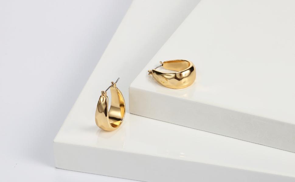 pear shape hoop earrings for women