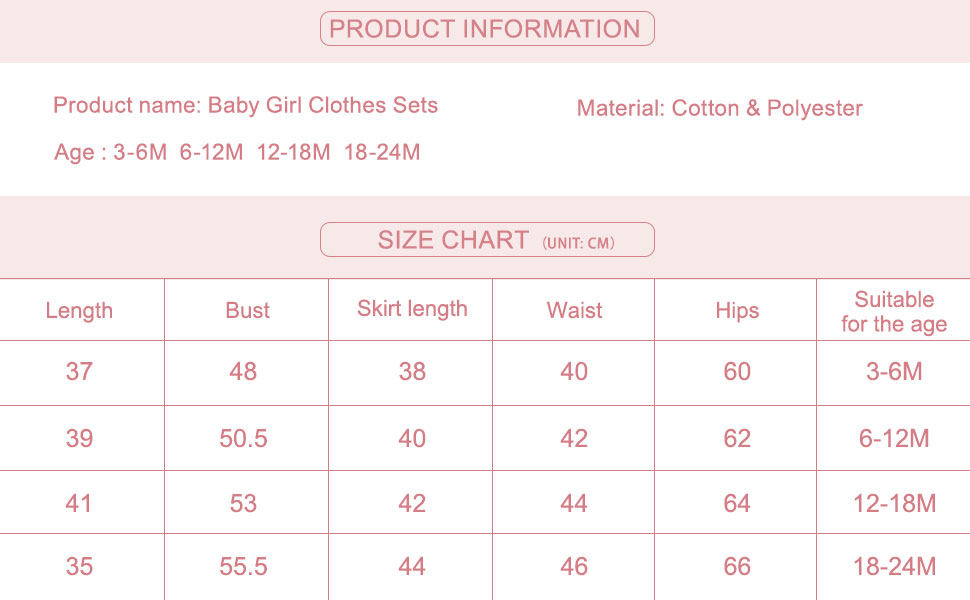 Baby Girl Clothes Sets