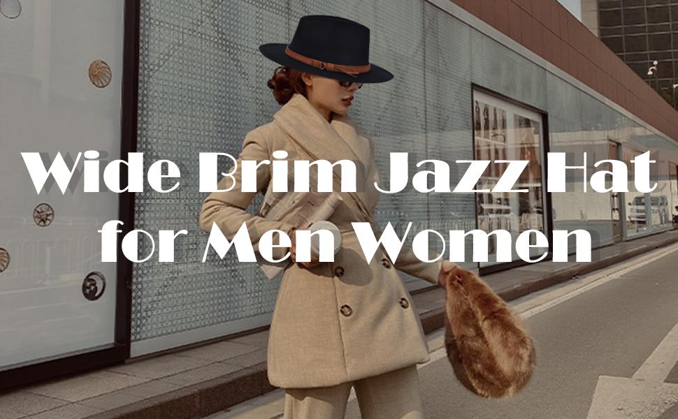 Sombrero classic jazz hat unisex