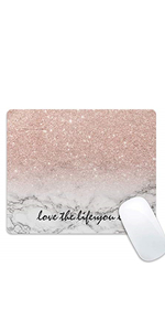 rose pink golden mouse pad