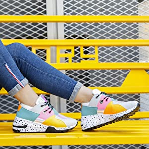 holographic fashion sneakers