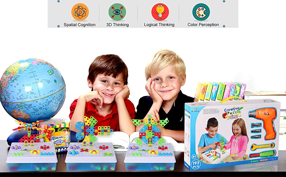 STEM Construction Engineering Building Blocks Puzzle Toy For Kids