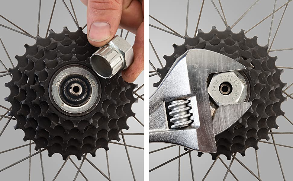 4x Bike Repair Tools Bicycle Freewheel Chain Whip Cassette Sprocket Remover Tool