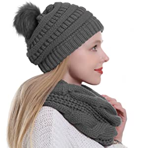 classic hat,chunky scarf knitted scarf Extra long infinity scarf scarf neck warmer beanie,knitted hat,matching set long scarf snood