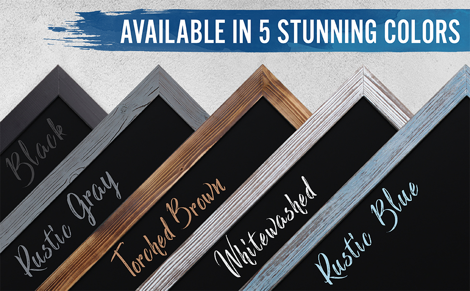 HBCY Creations Rustic Blue Magnetic Wall Chalkboard