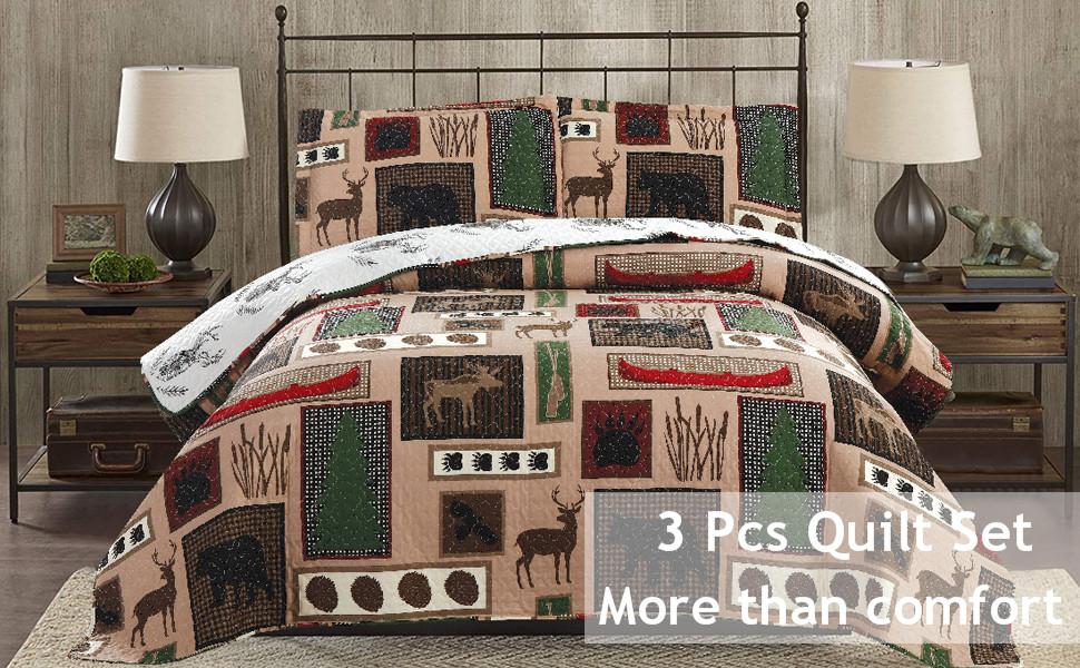 lodge moose bedspread