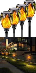 Solar Flame Lights