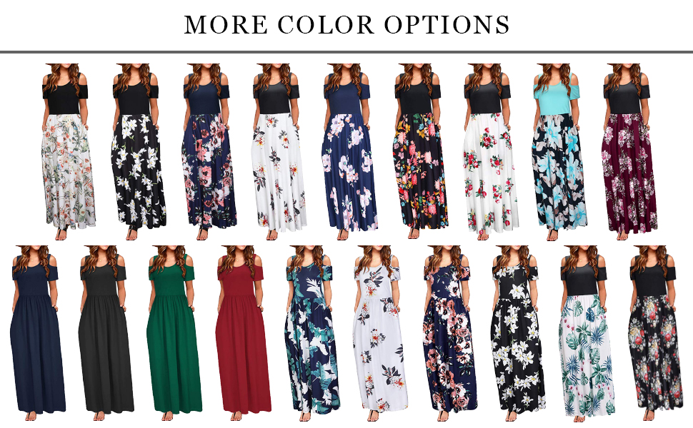 35b4c67a91 Don't miss out on this Women Cold Shoulder Floral Print Elegant Maxi Long  Dress with Pocket!!!