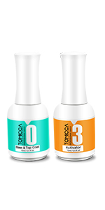 activator, base & top coat