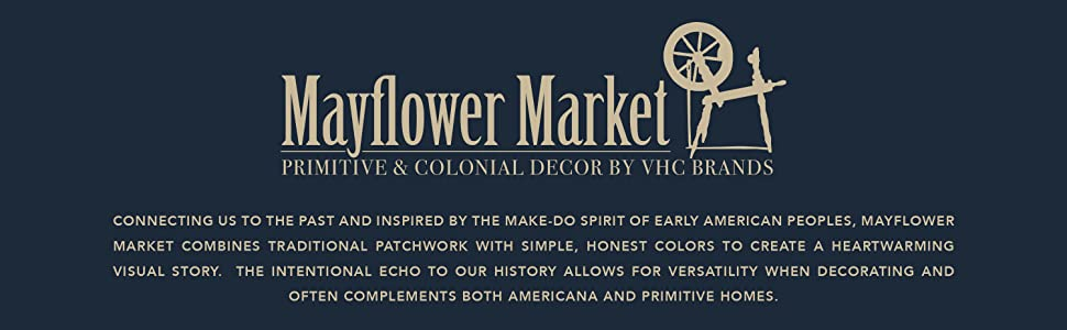 Mayflower Market primitive country Americana traditional patchwork VHC Brands bedding curtains rugs