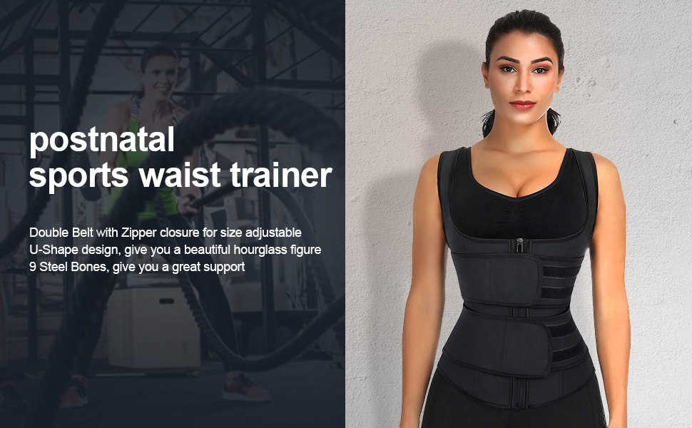 women double belt wasit cincher for weight loss shapewear
