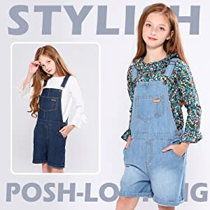 stylish posh-looking girls denim jeans