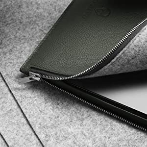 macbook Reißverschluss leder hülle