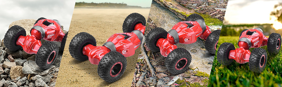 4WD High Speed Stunt RC Car Toy Gift for Kids /& Adults RC Stunt Car 1:16 2.4G RC Rock Crawler Off Road Vehicles UNIROI Remote Control Car