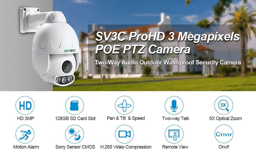 3MP PTZ Camera