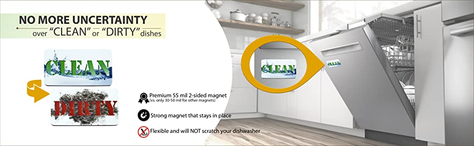 dishwasher clean dirty magnet sign