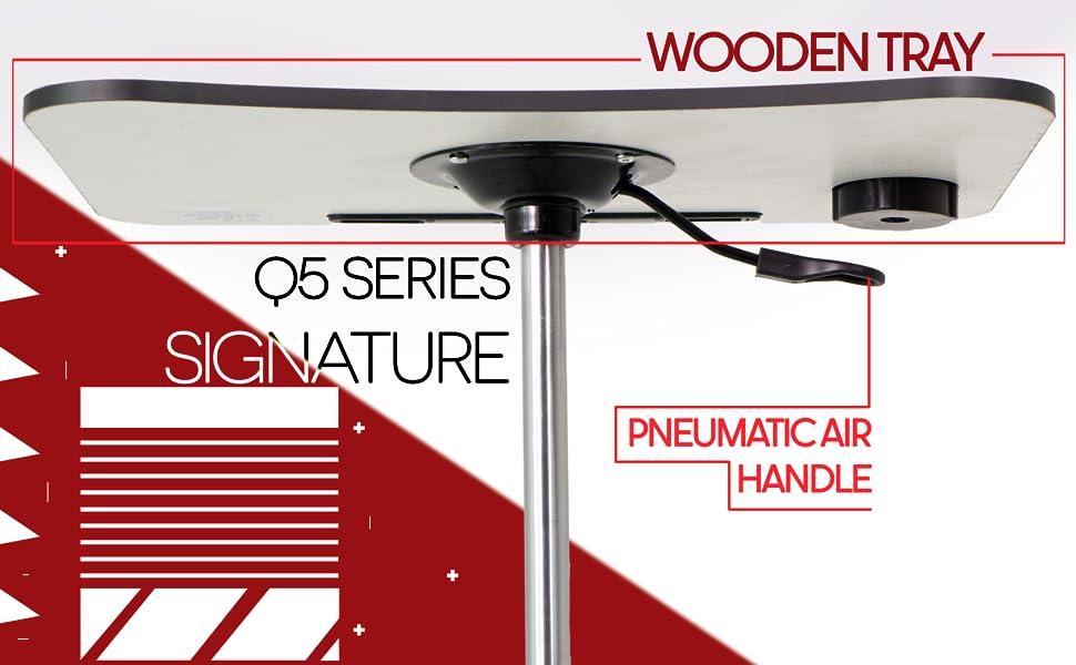 POCHAR Pneumatic Adjustable Height Standing Desk