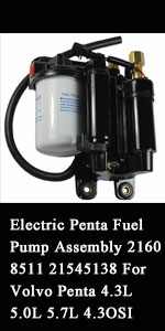 Fuel Pump Assembly 21608511 21545138 For Volvo Penta 4.3L 5.0L 5.7L 4.3OSI 4.3GXI 5.0OSI 5.0GXI
