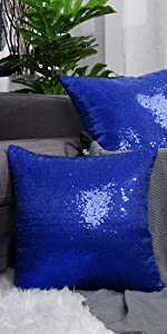 Sequin Throw Pillow Covers