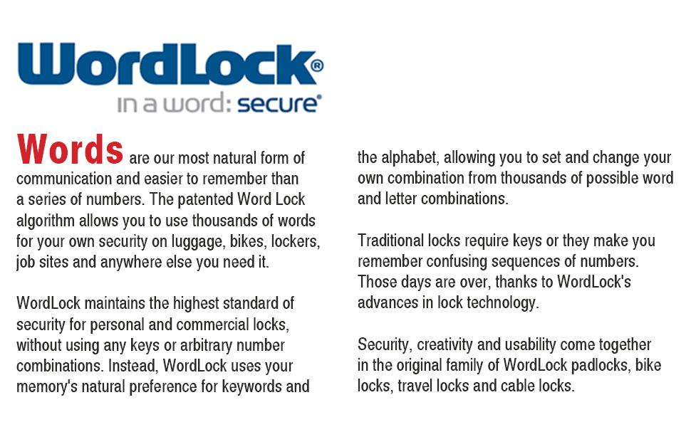 word lock pad lock