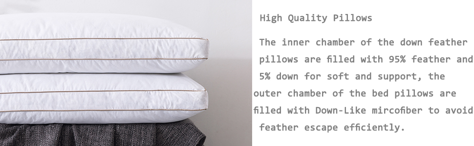 down pillows for sleeping