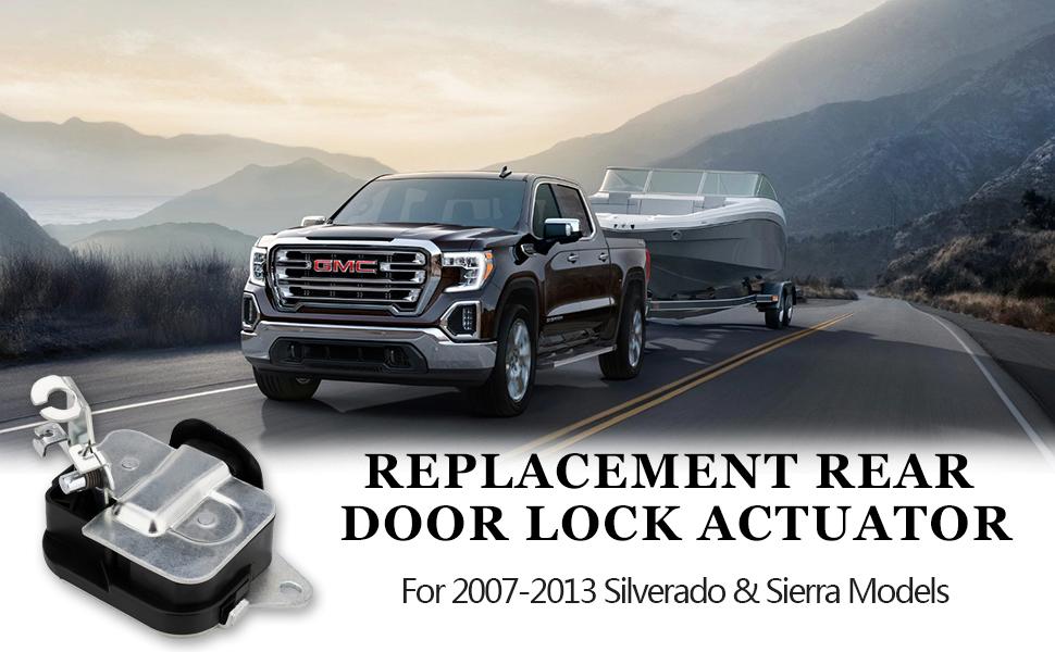 Amazon Com Rear Door Lock Latch Actuator For 2007 2013 Gmc Sierra 1500 2500 Hd 3500 Hd 07 13 Chevy Silverado 1500 2500 Hd 3500 Hd Replaces Gm 20995801 Rear Door Extended Cab Lower Latch Lock Assembly Automotive