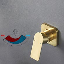 Wall mounted sink faucet for bathroom