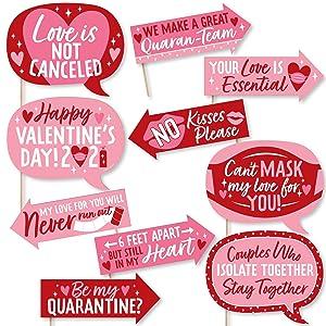 Quarantine Valentine Photo Booth Props