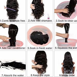 Washing the hair