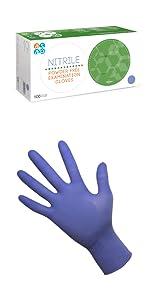 Violet indigo purple chemical nurse medical hospital patient exam glove