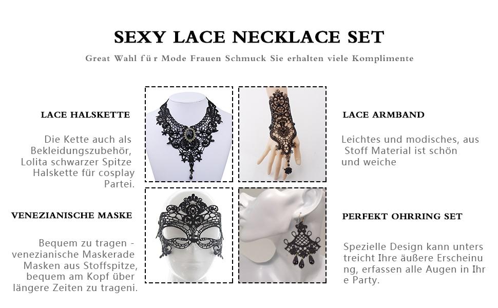 Hook Gothic Schmuck Damen, Gothic Halsband Halloween Schmuck