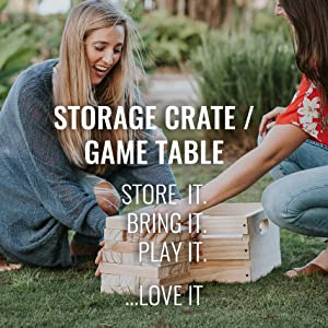 Storage Crate / Game Table. Store it. Bring it. Play it. Love it!