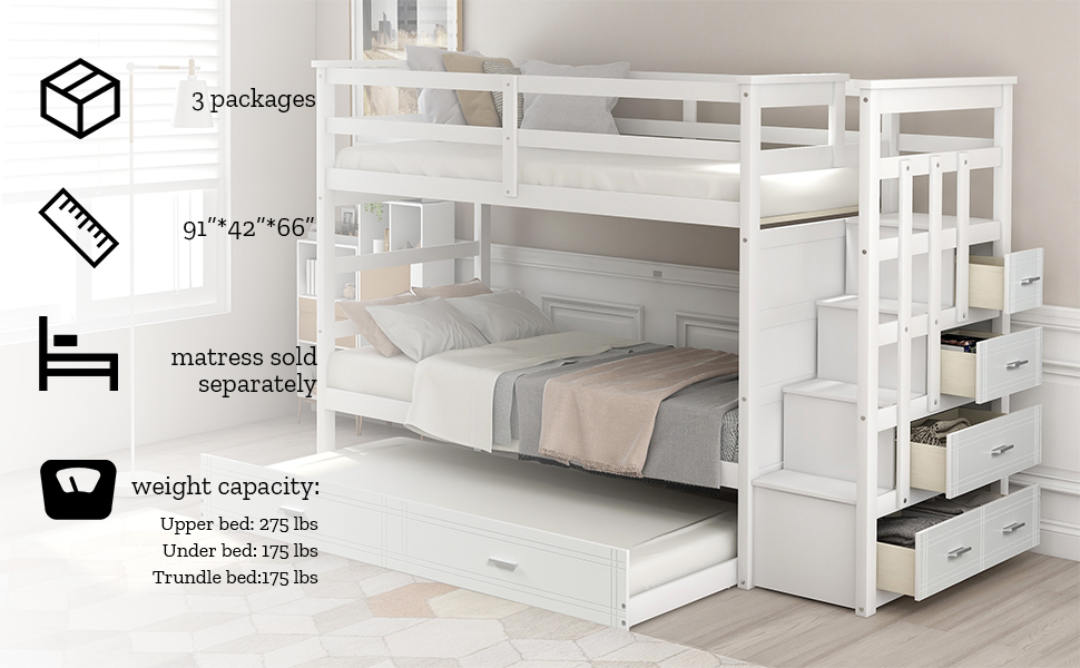 twin over twin bunk bed with storage bunk bed withtrundle bunk bed for kids wood bunk white