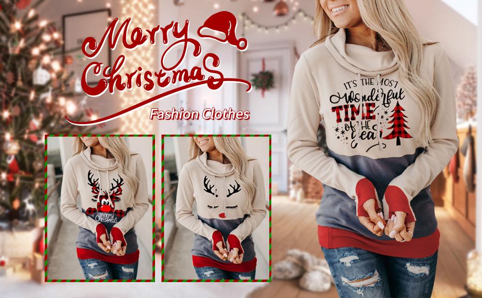 NECHOLOGY Women Crewneck Cute Print Sweatshirt Casual Blouse Soft Pullover Sweatshirts Long Sleeve Top Shirts T-Shirt