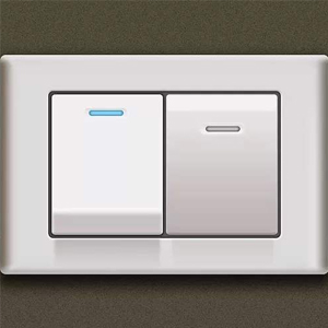 wall switch control LED lighted bathroom mirror