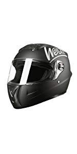 westt storm casco integral moto negro mate
