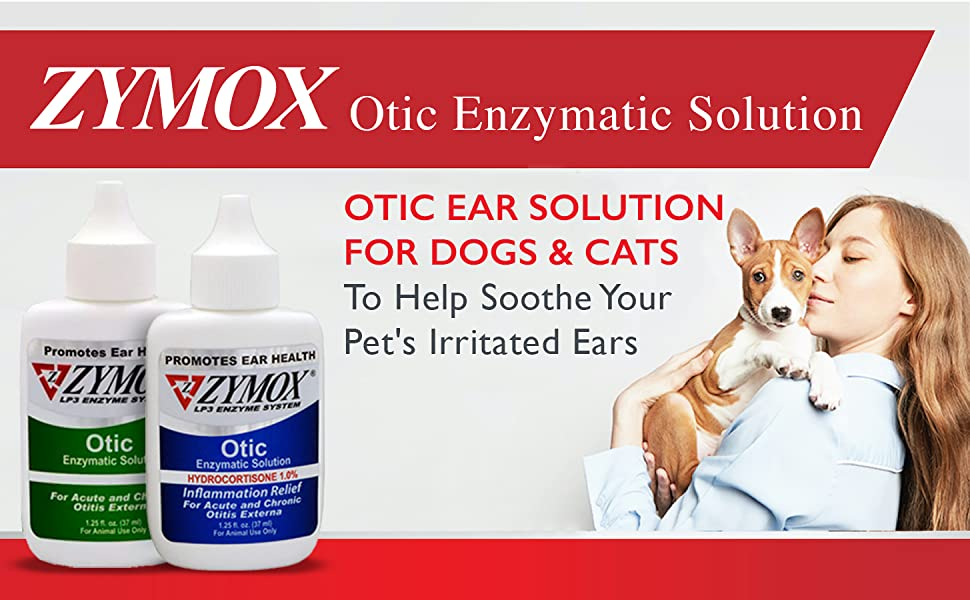 ZYMOX Otic Ear Solution for Dogs and Cats to Help Soothe Your Pet's Irritated Ears