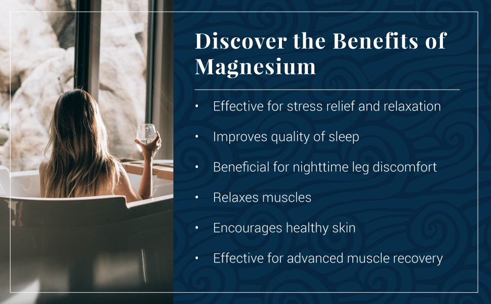 magnesium, bath, flakes