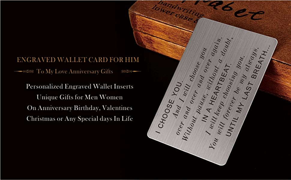 husband wallet card gifts