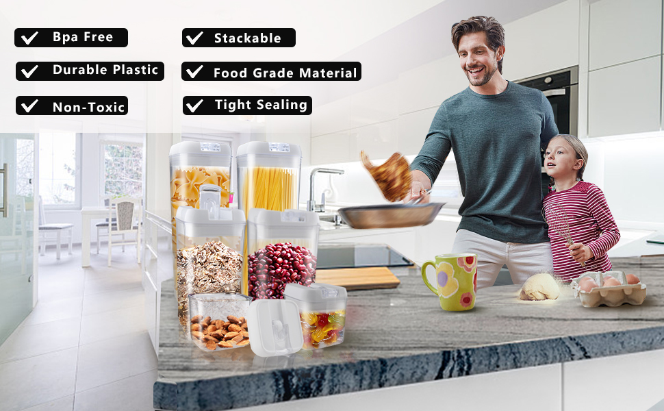 food storage container with lids