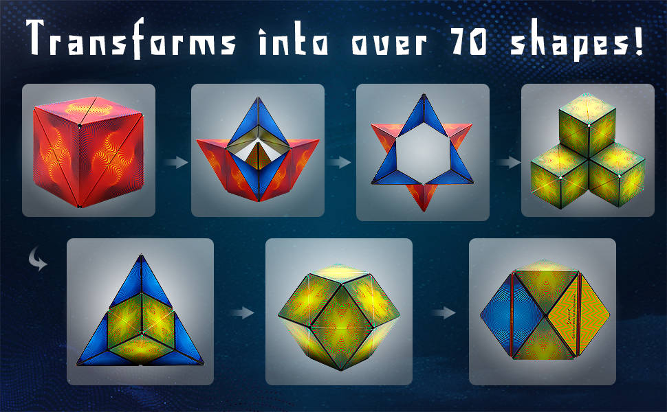 Transforms into over 70 shapes
