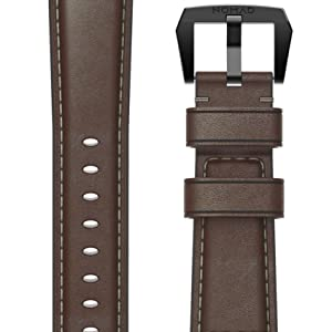 Nomad Traditional Strap for Apple Watch 40mm 38mm Rustic Brown Horween Leather Black Hardware