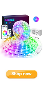 Govee 32.8ft LED Strip Lights app control led lights for room with remote indoor christmas decorate