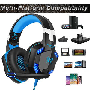 G2000 Kotion Each Pro Gaming Headset Blue//Black LIKE NEW™