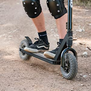 dirt scooter, offroad scooter, off road scooter, all terrain scooter, trail scooter, razor, mongoose