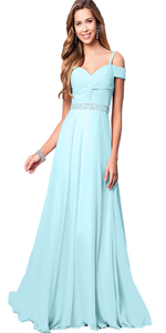 baby Blue Party Dresses