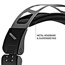 durable, metal, padded headband