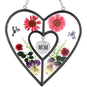 Heart Sun-Catchers  Glass Heart Suncatchers - MOM Gifts Gift for Mother's Day Mom for Birthdays