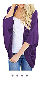 violet summer cardigan