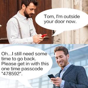 Fingerprint code door lock